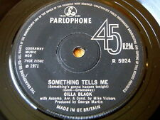 "CILLA BLACK - SOMETHING TELLS ME  7"" VINYL"