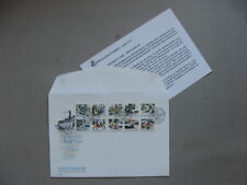 SWEDEN, cover FDC 1988, bookletpane midsummer music dance accordian