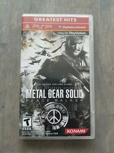 Metal Gear Solid Peace Walker Sony PSP Greatest Hits Complete CIB Tested Working
