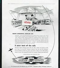 BP OIL COMPANY 1951 AVIATION SERVICE MAXIM'S EXPERIMENTAL AEROPLANE 1894 AD