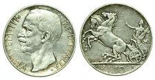 pci0179) Regno Vittorio Emanuele III lire 10 biga 1927 **