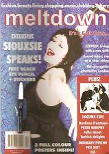 meltdown magazine #11 Siouxsie Sioux Bauhaus goth fashion + eyeliner + stickers