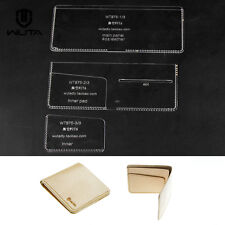 WUTA Minimalist Wallet Acrylic Template Card Case  Leather Craft Pattern 875
