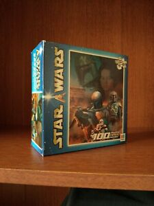 Official Star Wars JANGO / BOBA FETT 100 pc Puzzle Hasbro c.2002 *NEW / SEALED*