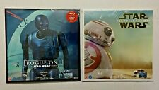 "Star Wars Rogue One and The Force Awakens ""BIG SLEEVE"" Edition Blu rays"