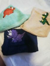 CUTE DINOSAUR FACE CLOTHS/FLANNELS/LOVELY EMBROIDERED  TOWEL SETS GIFTS/