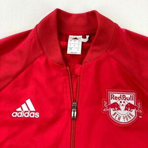 New York Red Bulls Men's Adidas Full Zip Track Jacket MLS Soccer •Size XL