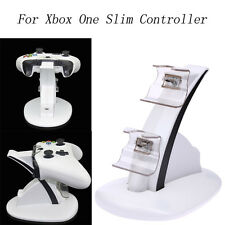 For Xbox One Slim Controller Dual Dock Charging Micro USB Charger Stand Holder