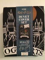 HARRY POTTER DUVET COVER SET Hogwarts Full 2 Pillowcases