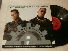 "C & C MUSIC FACTORY 'Keep It Comin' 1992 US 12"" Single - 4 Mixes"