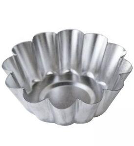 """Fox Run 4570 Deep Tart Tins Pans 2.25"""" Set of 4 Tin-Plated Steel New"""
