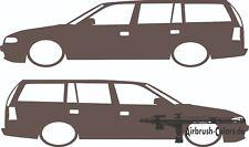 Aufkleber / Sticker Opel Astra F Caravan *Tuning*Stickerbomb