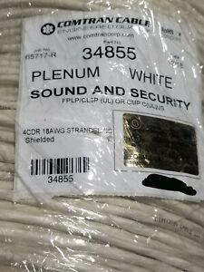 ComTran 34855 18/4C Shielded Control/Communications Cable Plenum White /100ft