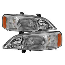 Acura 99-01 TL Chrome Housing Replacement Headlights Left + Right Pair Set