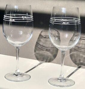 Darwin Martin Crystal Wine Glasses set of Two Frank lloyd Wright.