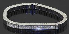 Heavy 18K white gold amazing 4.80CTW VS1/F diamond cluster link bracelet