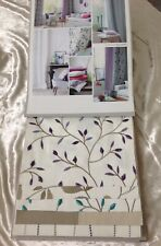 Camengo Alchimie Designer Fabric Sample Book /Cushions Quilting Embroidered Cott