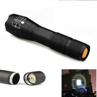 Glass Breaker 50000LM 5Modes T6 18650 LED Flashlight Zoomable Bright Torch Lamp