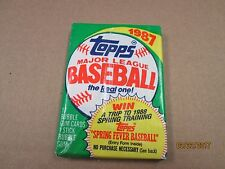 Basebal Cards 1987 - Closed Pack