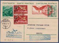 "Svizzera - 1935 -  Posta con Alianti ""1° Int. Segelfliegerlager"" - cat.SF 35.5d."