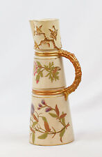 Royal Worcester Antique English 1889 Pitcher in Shape of Trapezoid
