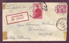 1043 ( 9c Alamo - Liberty Issue ) + FA1 - GREAT FRANKING on 1957 CERTIFIED Cover