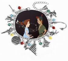 NEW Peter Pan Silver Plated Charm Bracelet - Perfect Gift for Christmas