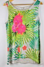 Blusa Para Mujer Camiseta Flores Tirantes Cortas Talla L Estampada de flores