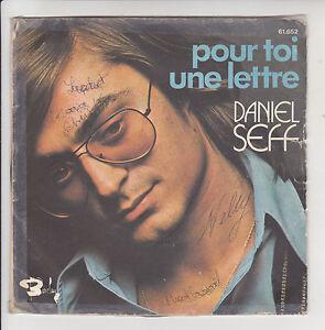 """Daniel Seff Vinyl 45 RPM 7 """" For Toi Une Letter - Fille D'Un Salsa -barclay"""