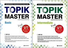 TOPIK Master Series Actual Test MP3 CD Hangul Learn Korean Book LEVEL 1+2