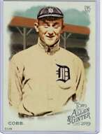 Ty Cobb 2019 Allen and Ginter 5x7 #365 /49 Tigers