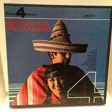 EDMUNDO ROS Reel to Reel Tape  THE LATIN KING 4 Track 7.5 IPS London Phase 4