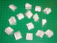 15 x LEGO white Slope Brick 3039 / Set 10198 10019 7676 5525 7666 10191 8089....