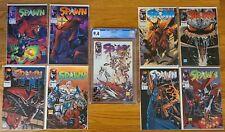 SPAWN #1-8 NM & #9 CGC 9.4 NM Todd McFarlane IMAGE COMICS 1992 Excellent Books!