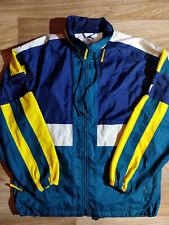 Adidas 90's Vintage Mens Nylon Jacket Windbreaker Hooded Rainproof Parka