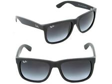 Ray-ban RB4165 Justin 601/8G 54-16 3N Gray Gradient Sunglasses Rubber Black