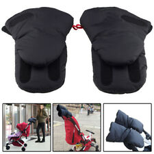 Waterproof Baby Stroller Gloves Winter Warm W/Mobile Phone Pocket For Carriage