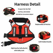 Emotional Support Large Dog Harness Reflective Pet Harness Vest Removable Patch