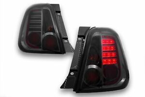 FIAT 500 ALL SMOKED LED TAIL LIGHTS 2007+ MODEL