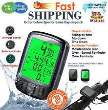 Bike DIGITAL BICYCLE CYCLE COMPUTER BIKE SPEEDO SPEEDOMETER+ BACKLIGHT