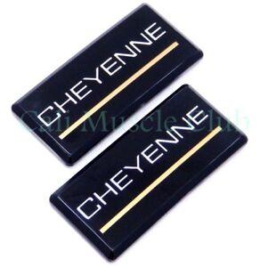 88-98 Chevrolet Cheyenne 2pc Roof Pillar Cab Emblem Badge Nameplate Side NEW