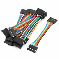 10 Pcs Female to Female 8P Jumper Wires Ribbon Cables Pi Pic Breadboard DIY 10cm