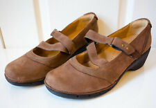 NEW! CLARKS Unstructured real suede WEDGE Mary Jane heels size UK 9D / EUR 43