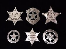 6  BADGES   MARSHALS, DEPUTY MARSHALS (BADGES OF THE OLD WEST)