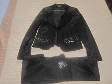 Tailleur giacca e pantalone donna nero Monella Vagabonda Snob nero taglia S 42