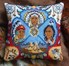 Sheena Rogers Designs Cojín De Mini indios nativos americanos Cross Stitch Kit