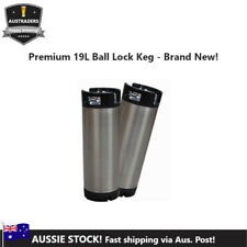 19L (5 gallon) Homebrew Brand New Premium Stainless Steel Ball Lock Keg
