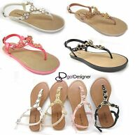 NEW Womens Fashion Summer Thong Sandals Shoes Open Toe Comfort Casual Floral HOT