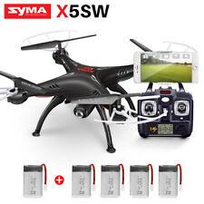 Genuine SYMA X5SW FPV Wifi Camera View RC Quadcopter Drones 2.4G With Gyro Black