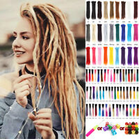 "5pcs 20""24""Afro Dreadlocks Synthetic Twist Crochet Braid Dreads Hair Extensions"
